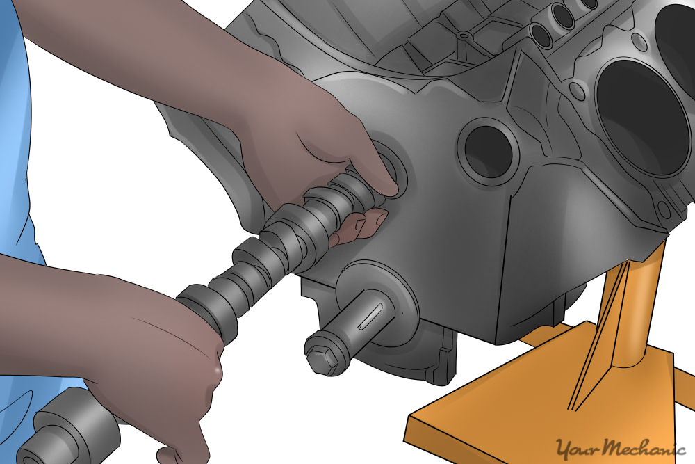 installing camshaft into engine