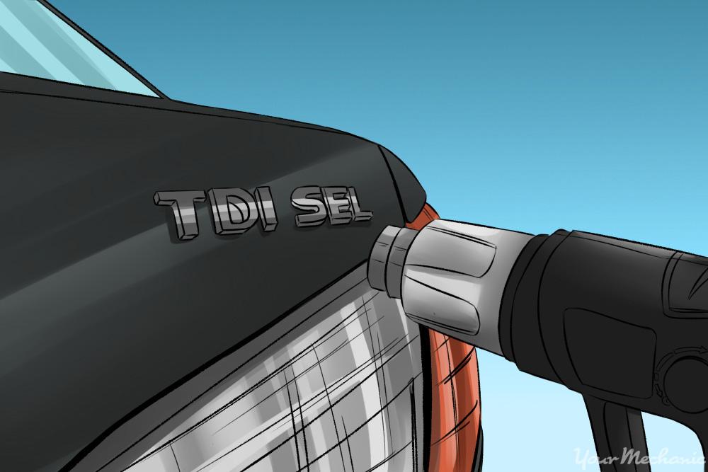 heatgun on car emblem