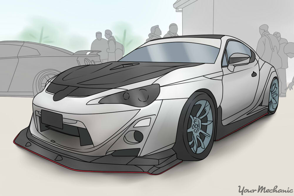 car with performance-focused body kit