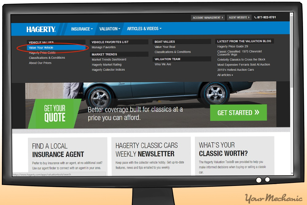 hagerty car website with value