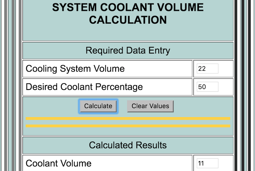 How to Calculate the Concentration of Coolant in a Car