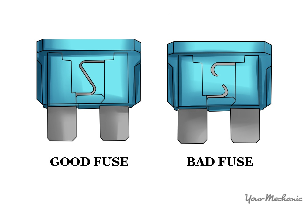 good fuse side by side to bad one