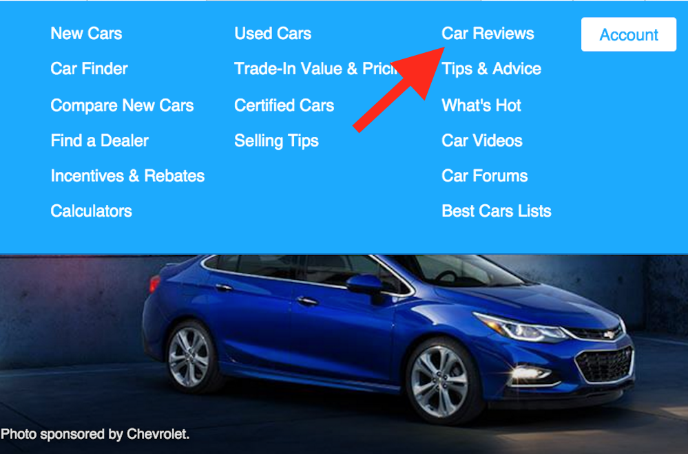 edmunds car review tab