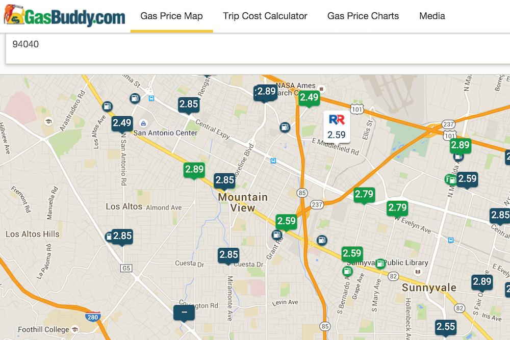 gasbuddy map