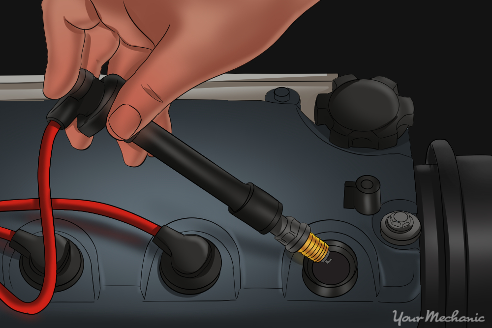 How To Attach Spark Plug Boot To Coil Wire: How to Replace Ignition Cables (Spark Plug Wires) in Your Car rh:yourmechanic.com,Design