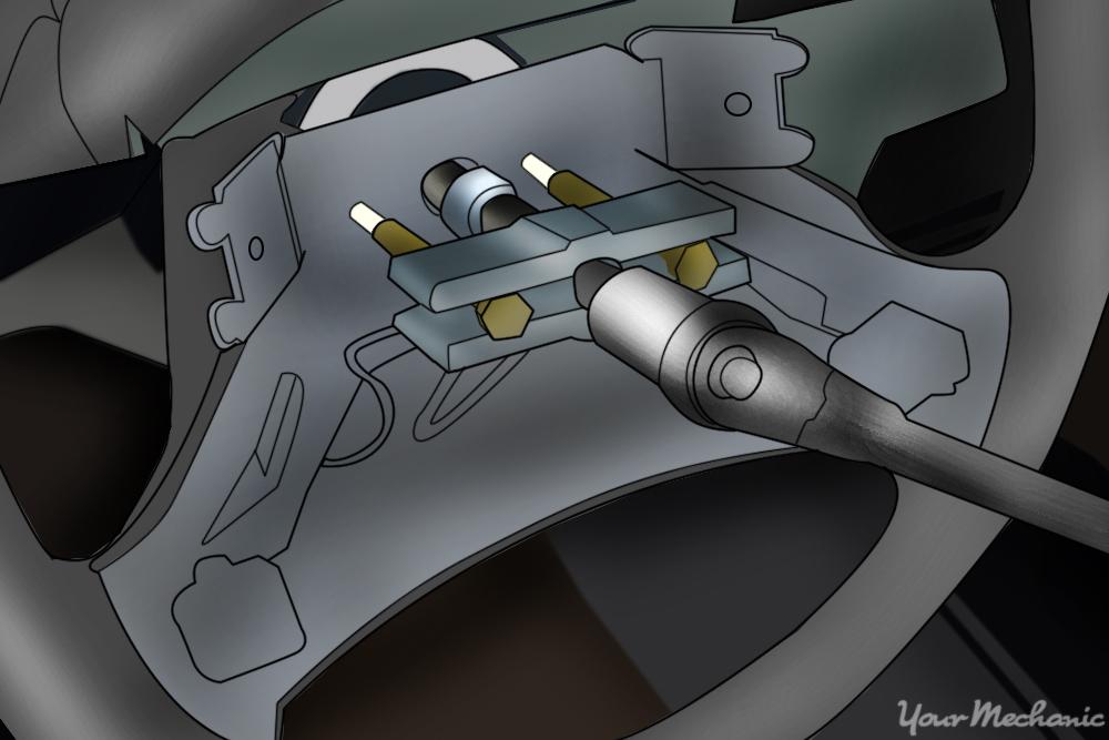 pulling the steering wheel