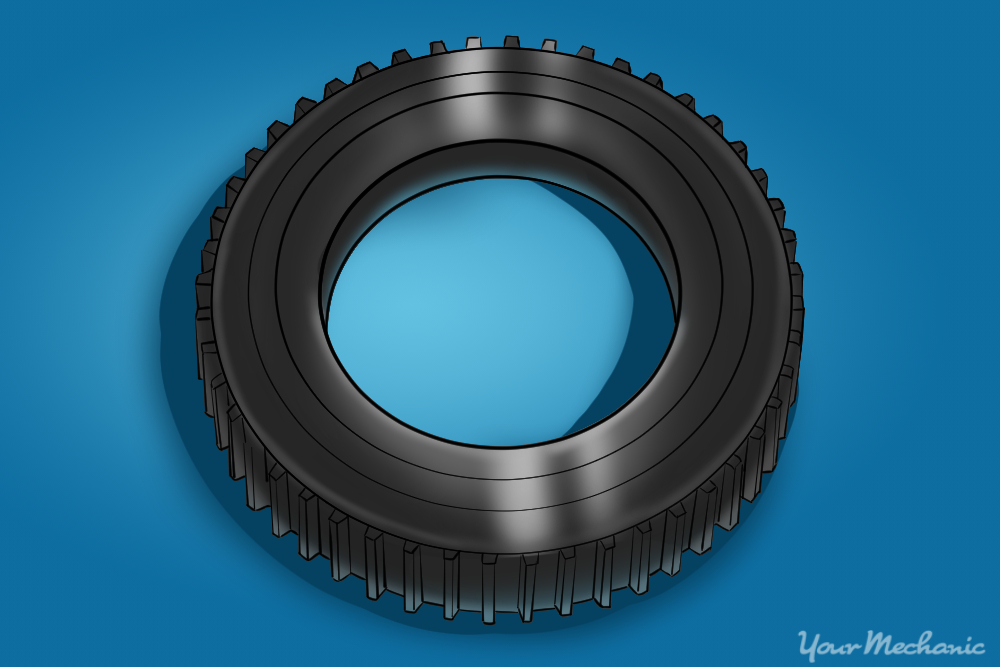 tone ring which is mounted on an axle or other rotating object