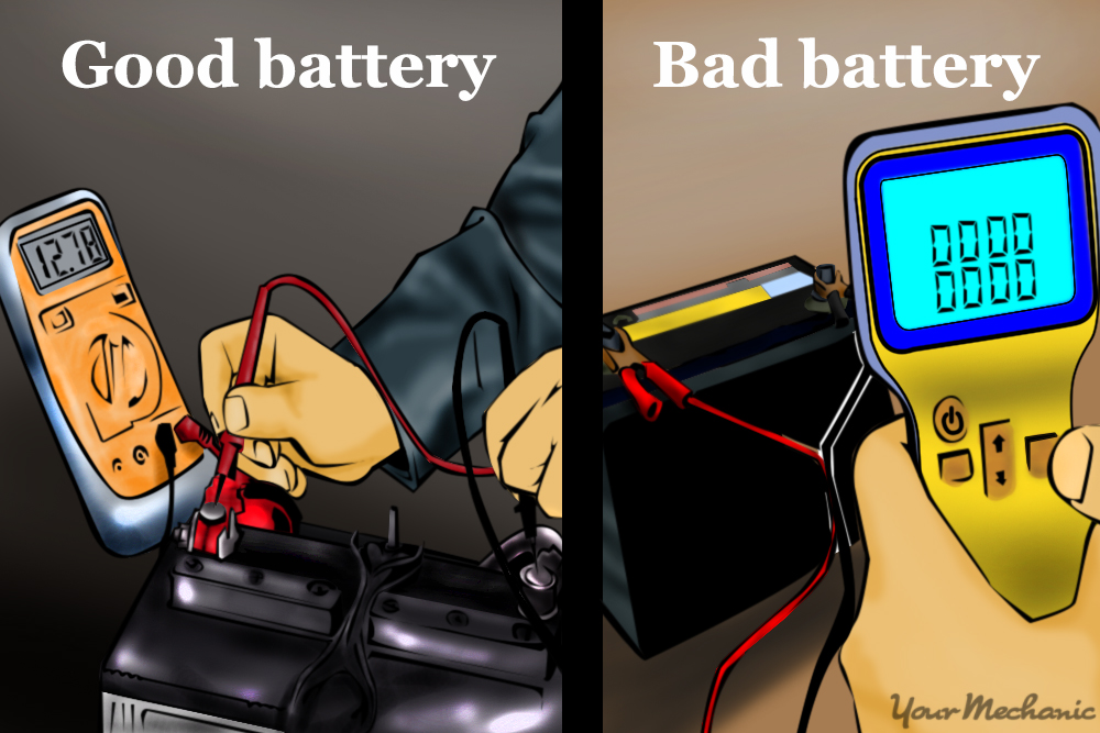 good battery vs bad battery reading