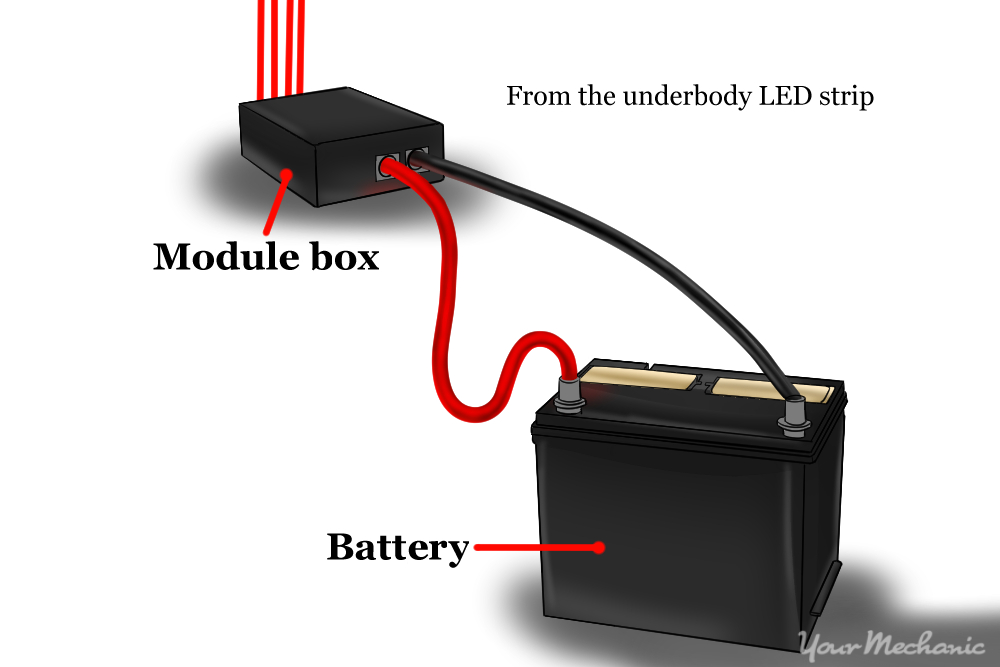 wiring schematic from battery to module box