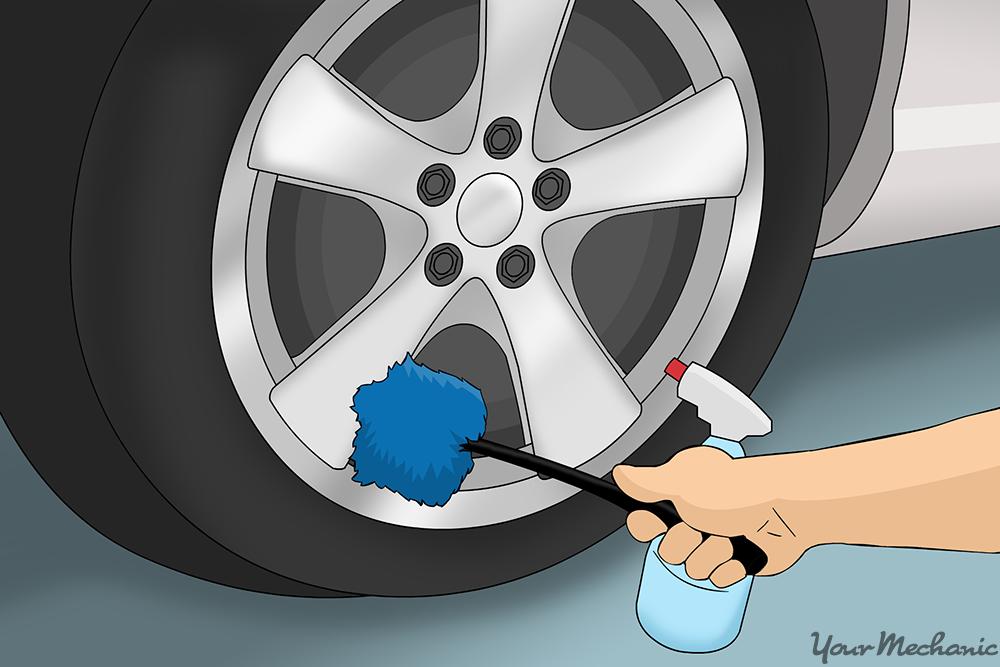 scrub brush used on car