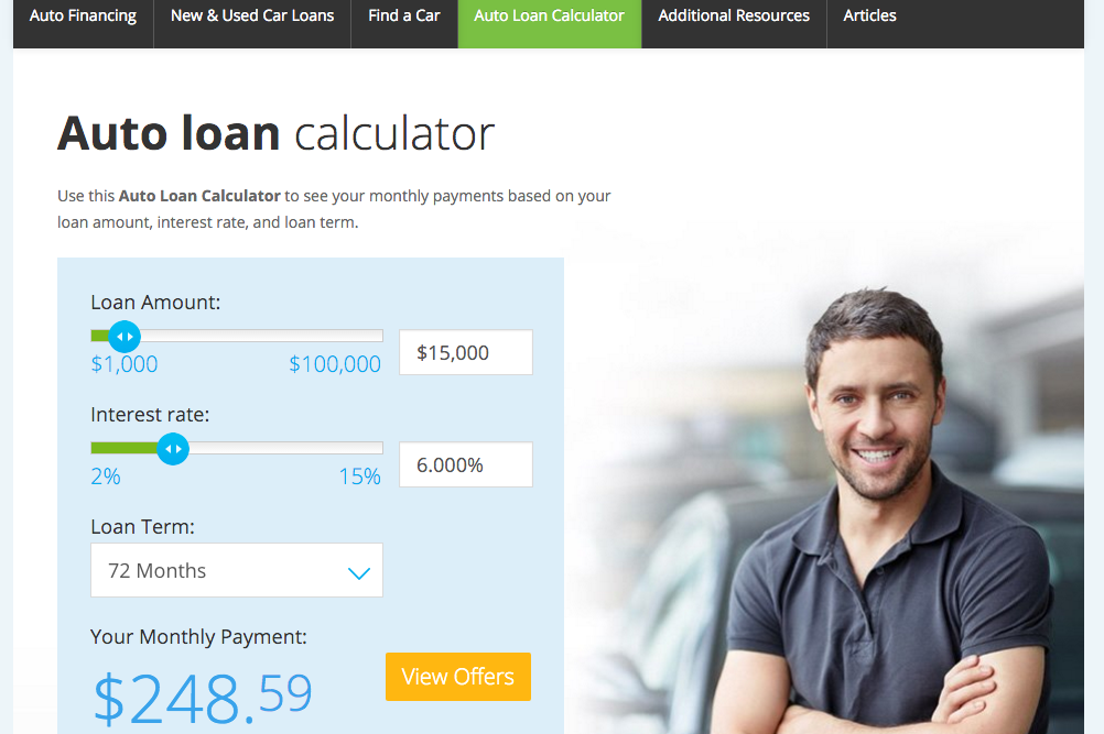 lending tree auto calculater