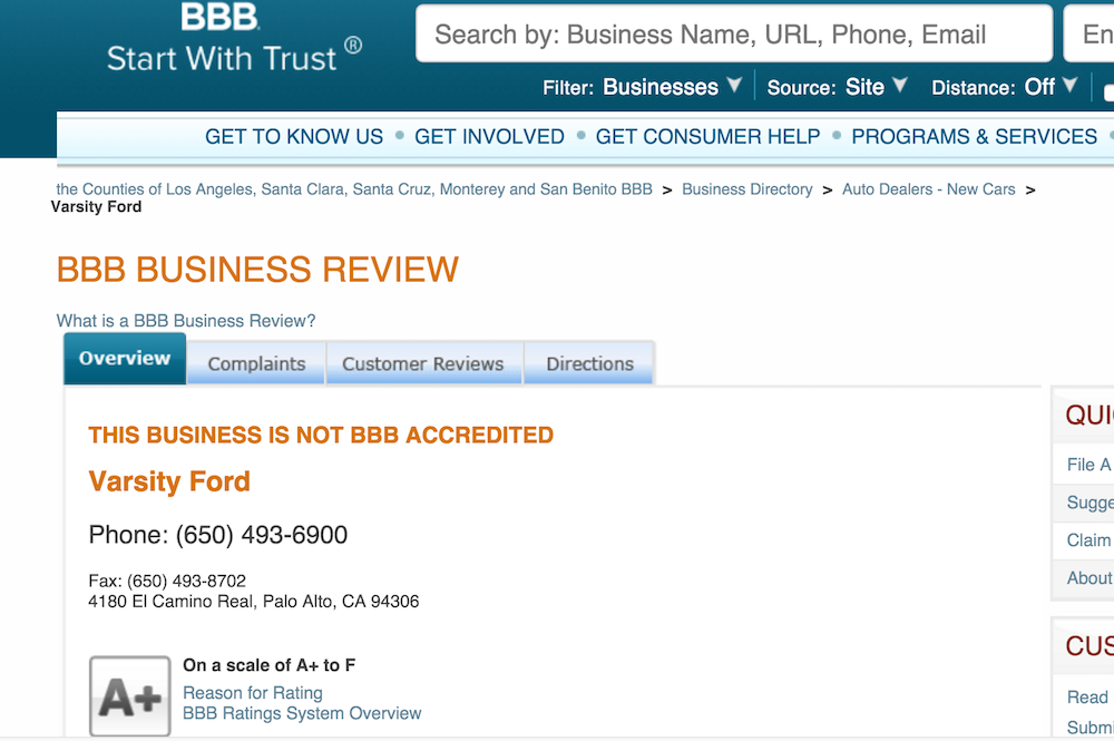better business bureau comparison