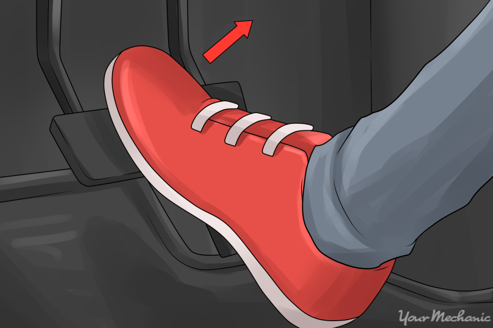 shoe lifting off brake pedal