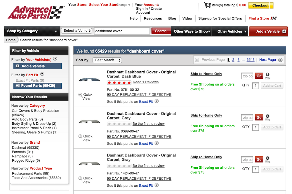 car dash listing site