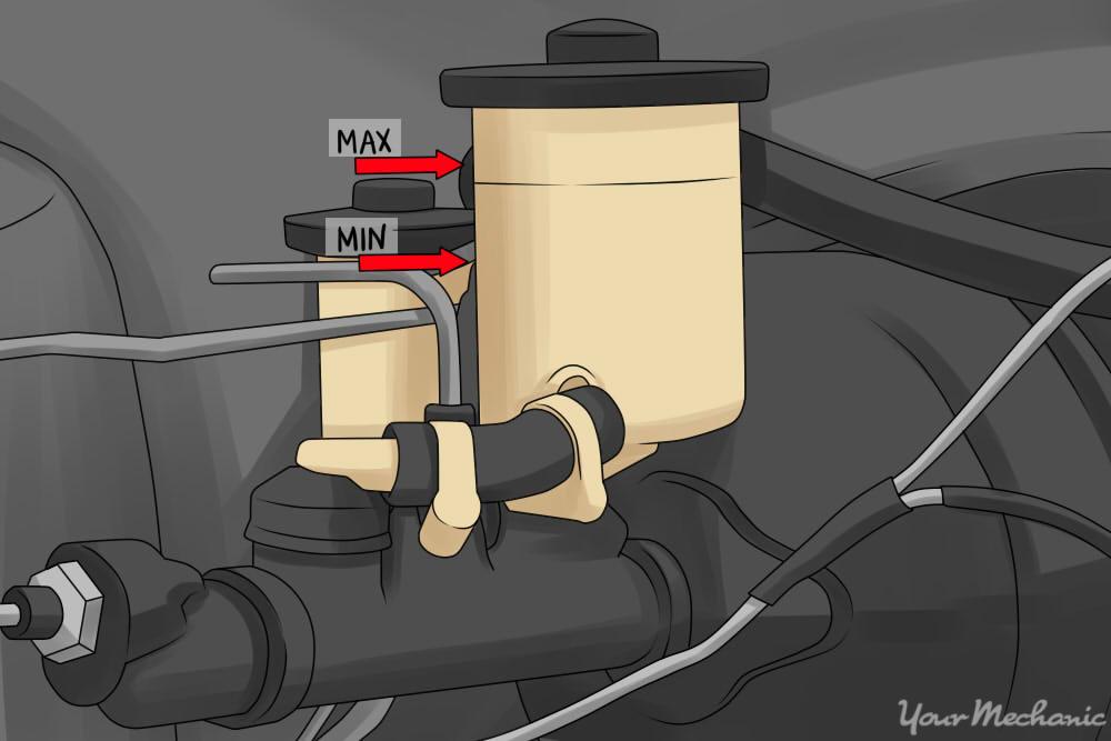 fluid level master cylinder