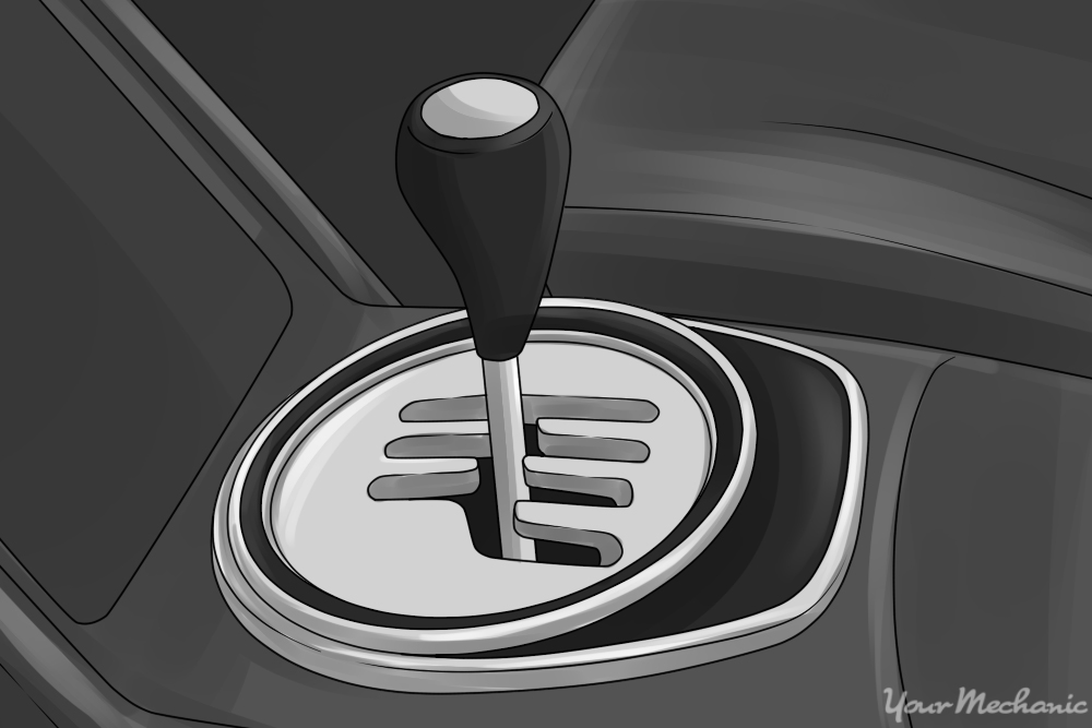 gear shift lever in the neutral position
