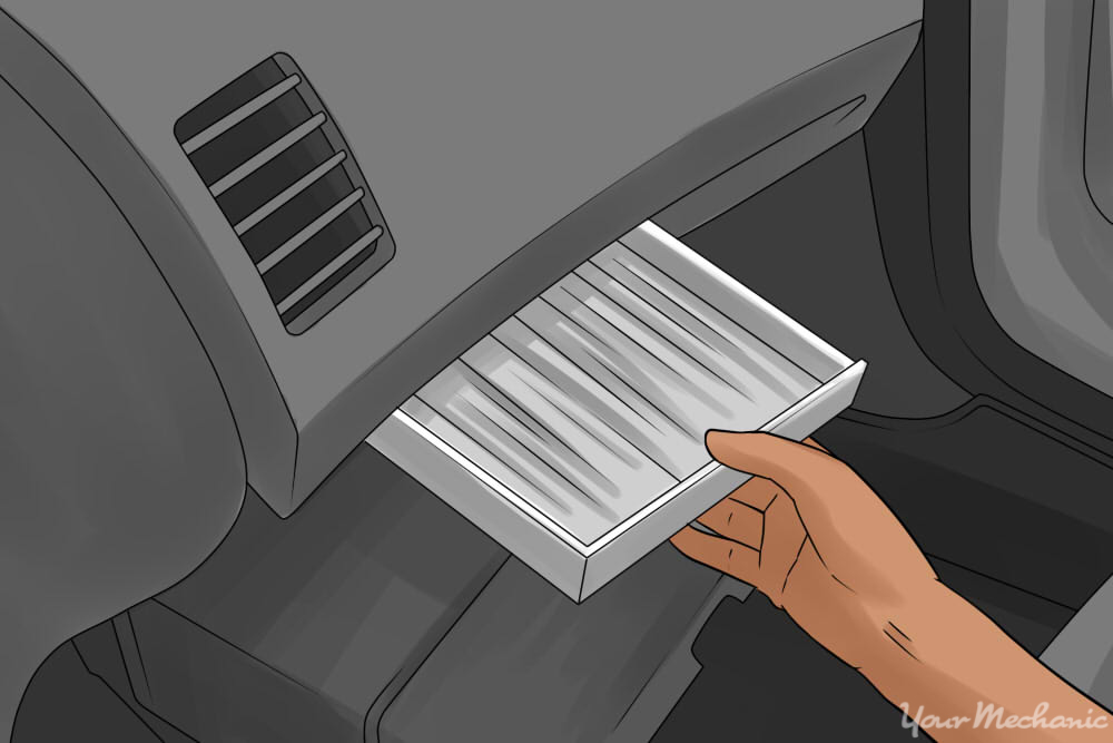 removing the cabin filter