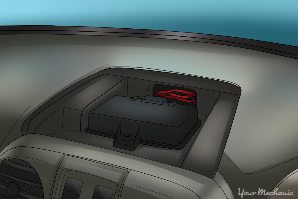 body control module mounted under a dash