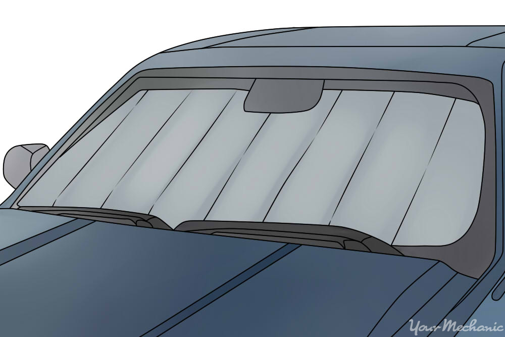 sunshade in car