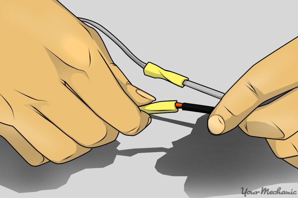 butt connector being installed by hand