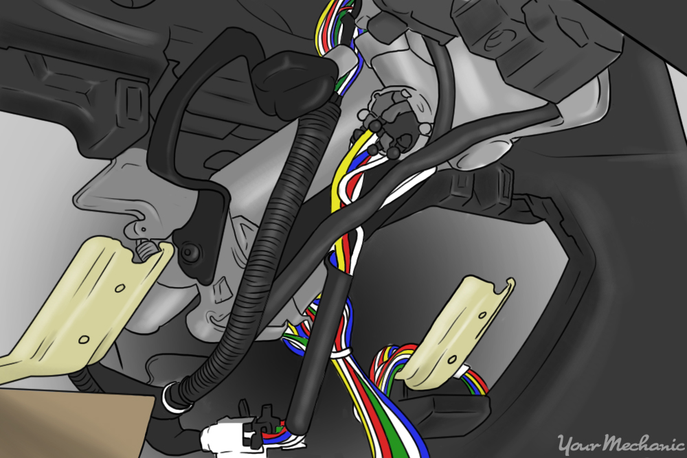 alarm wiring within dashboard