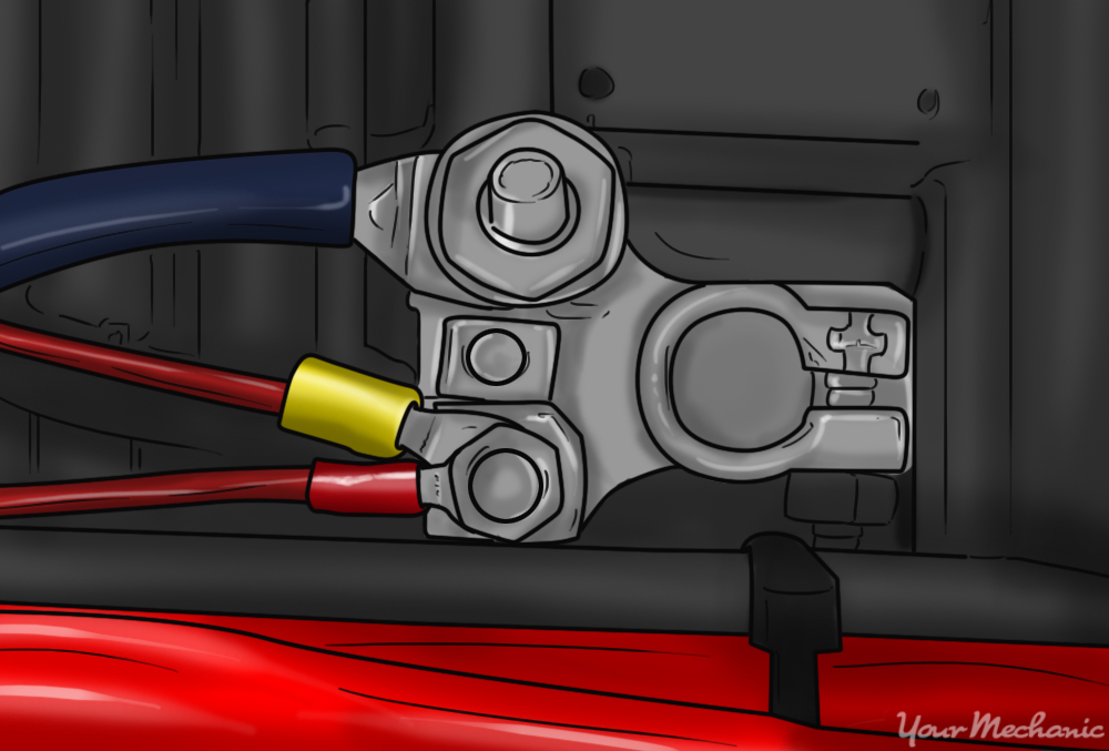 how to hook up battery cables to jump a car