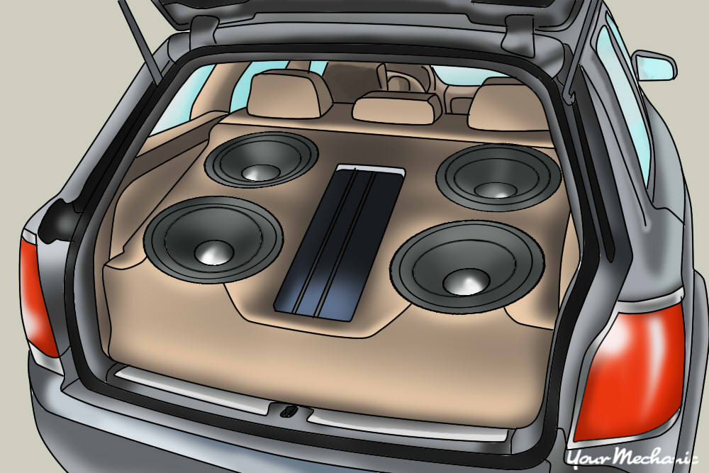 subwoofer in back of car