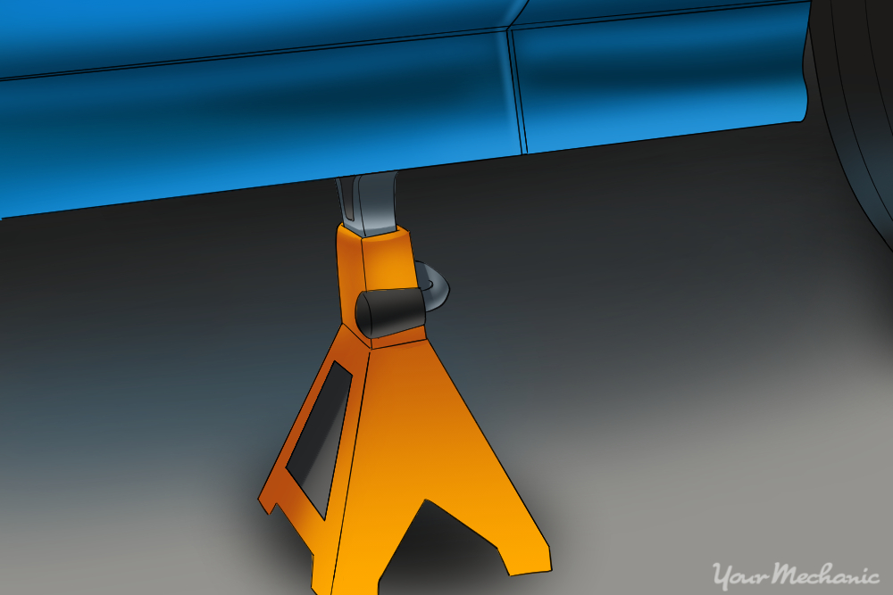 jack stands placed under vehicles