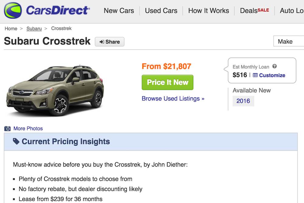How To Search For A New Car Online At CarsDirect