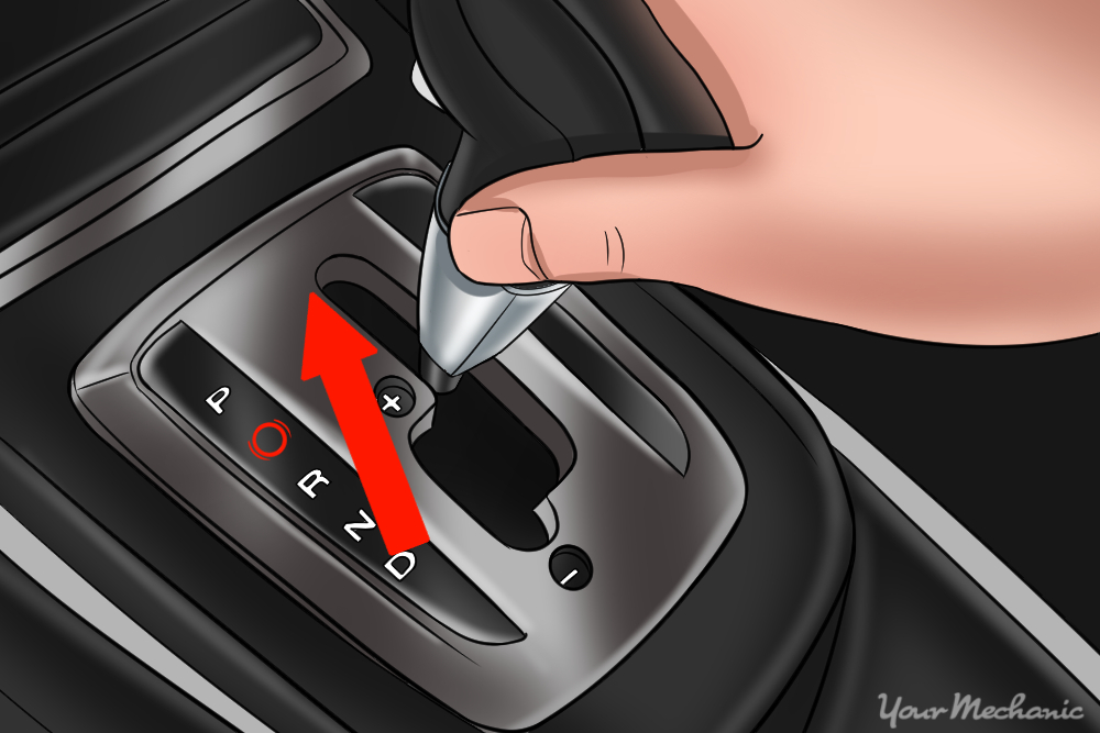 pushing shifter upward to rightside upshift
