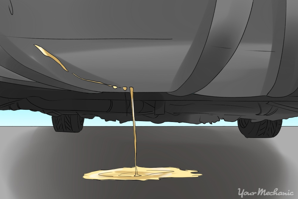 liquid leaking from bottom of fuel tank