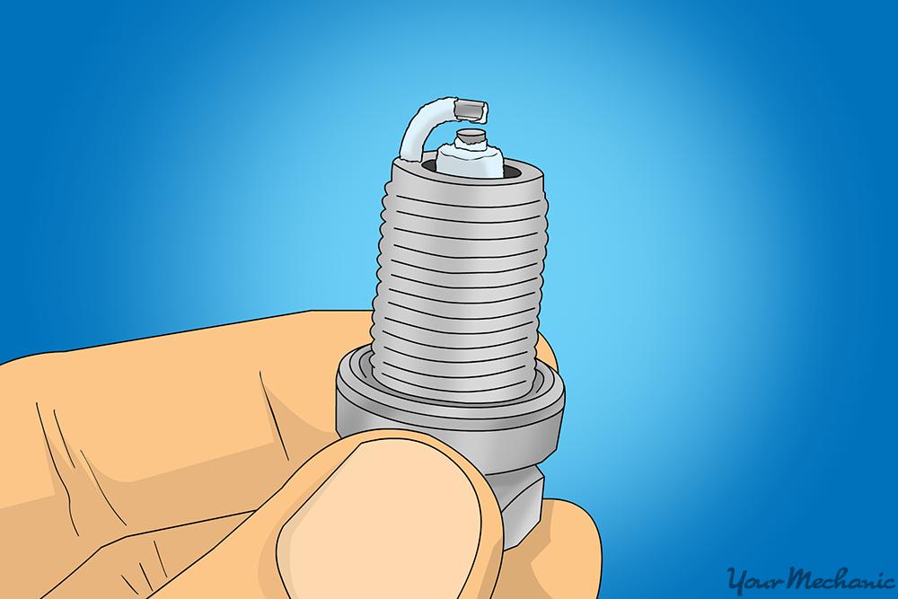 spark plug white deposits