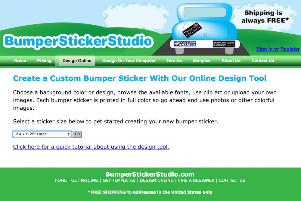Create your own bumper sticker online