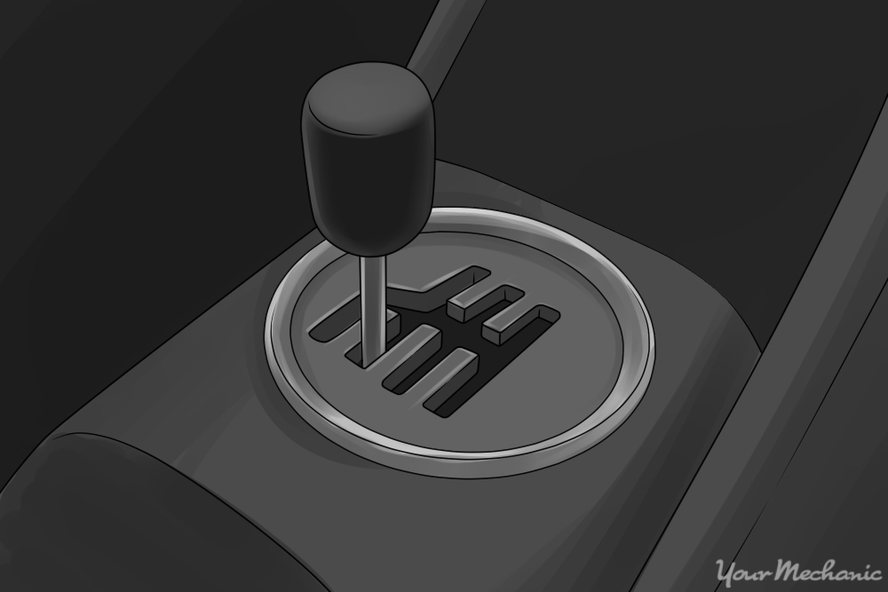 shift knob in second gear