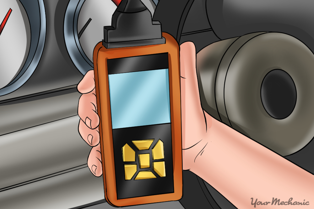 connecting a scan tool to car