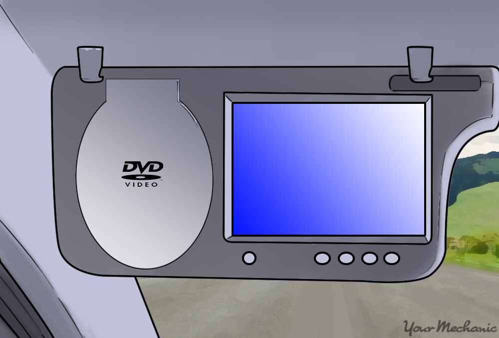 visor dvd monitor