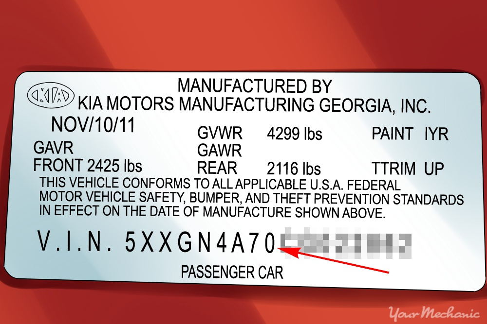 How to Read a VIN (Vehicle Identification Number) | YourMechanic Advice