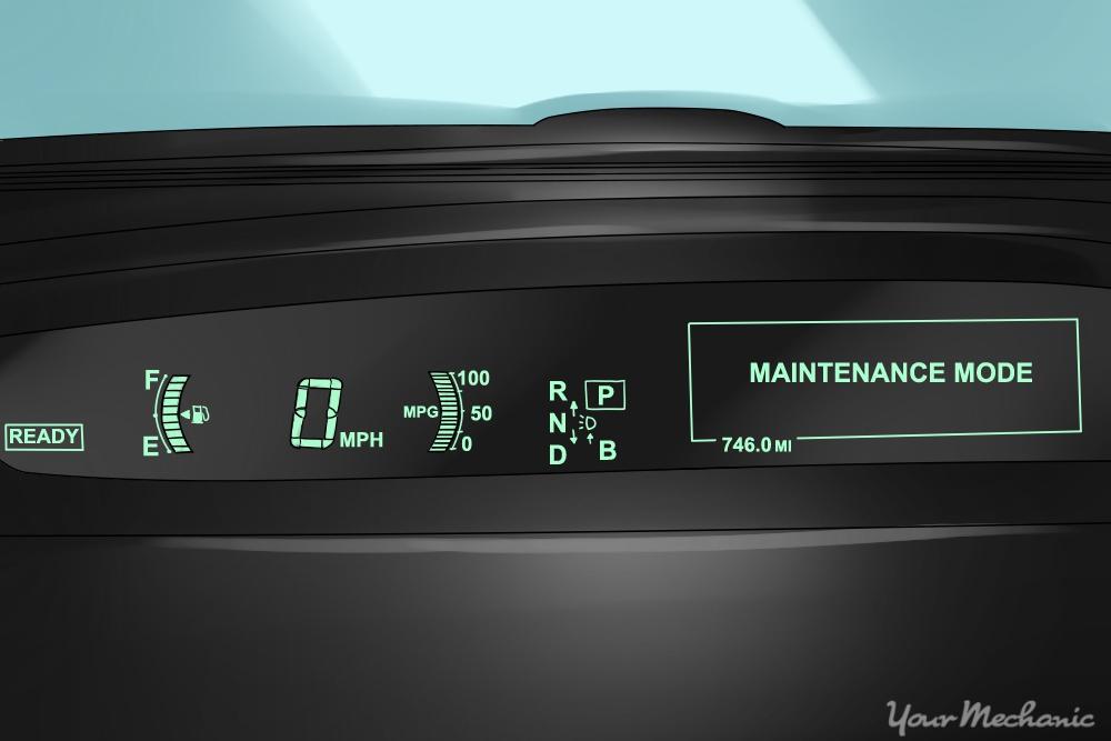 prius c maintenance mode