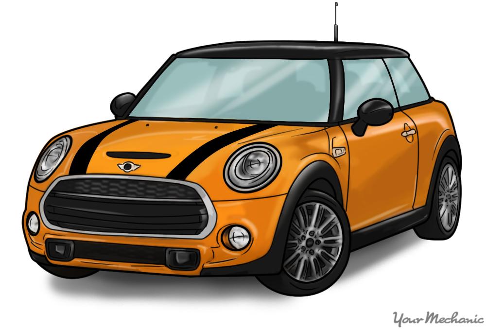 orange mini cooper