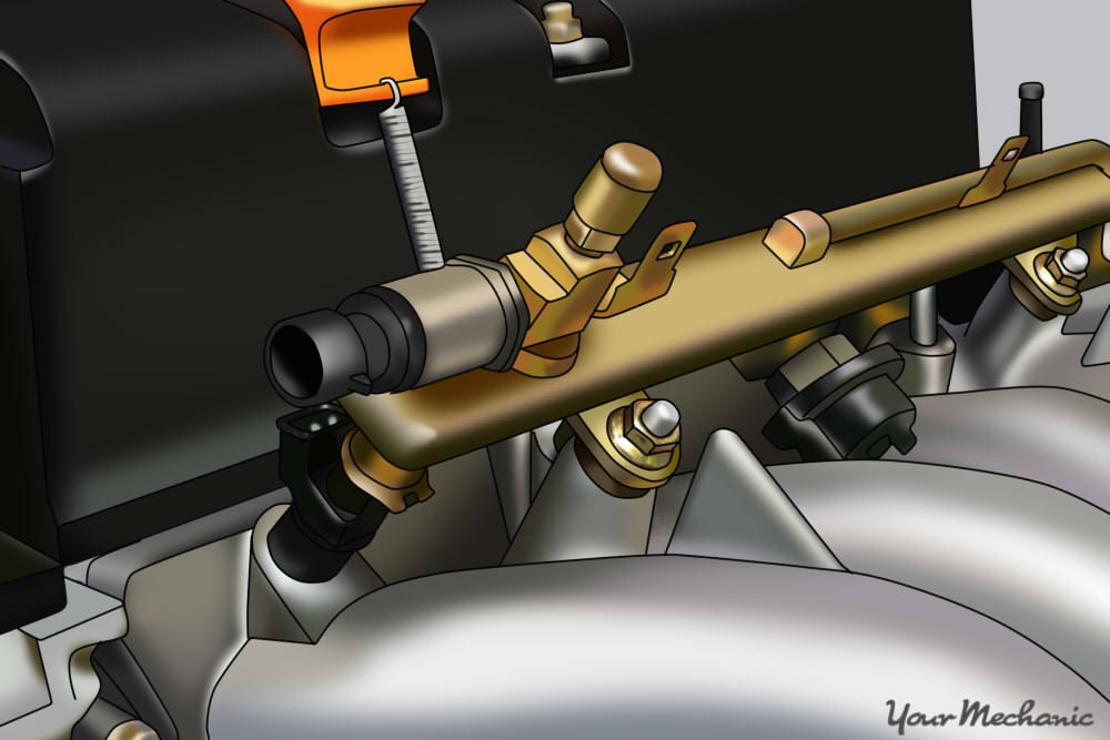 How To Replace A Fuel Pressure Regulator Test Port On Fuel Rail on 2010 Gmc Terrain Parts Diagram