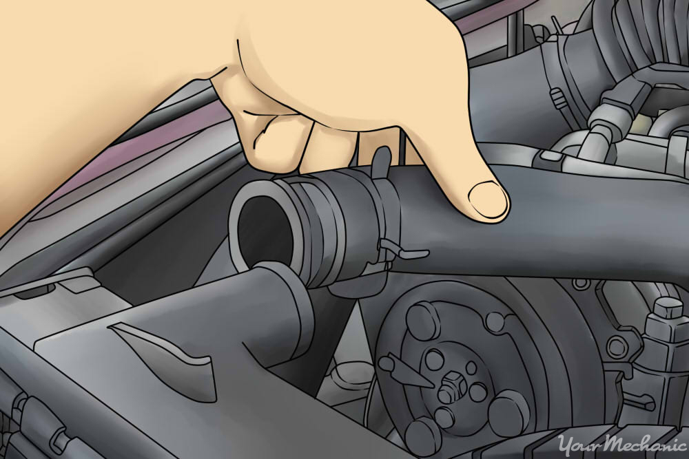 removing a radiator hose