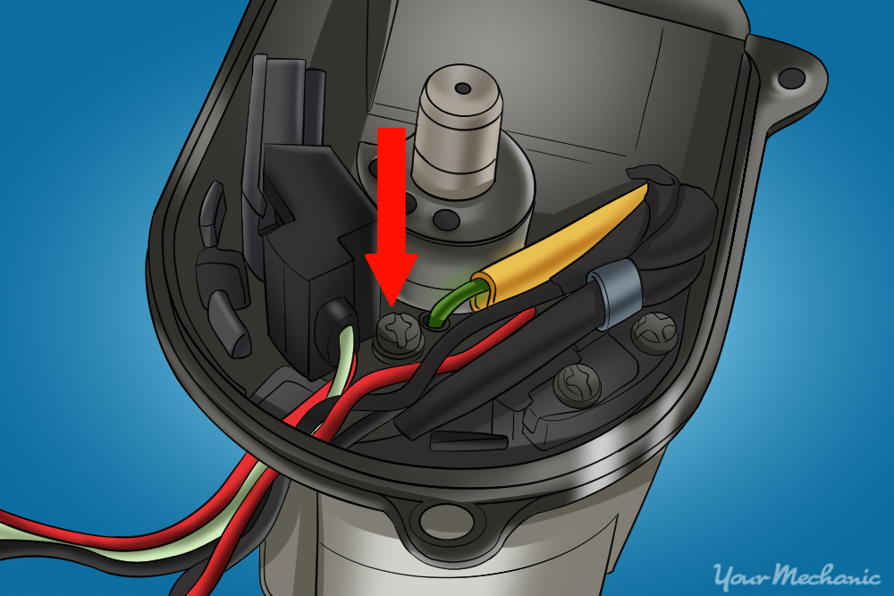 screws that attach wires from the ignition ignitor to the distributor
