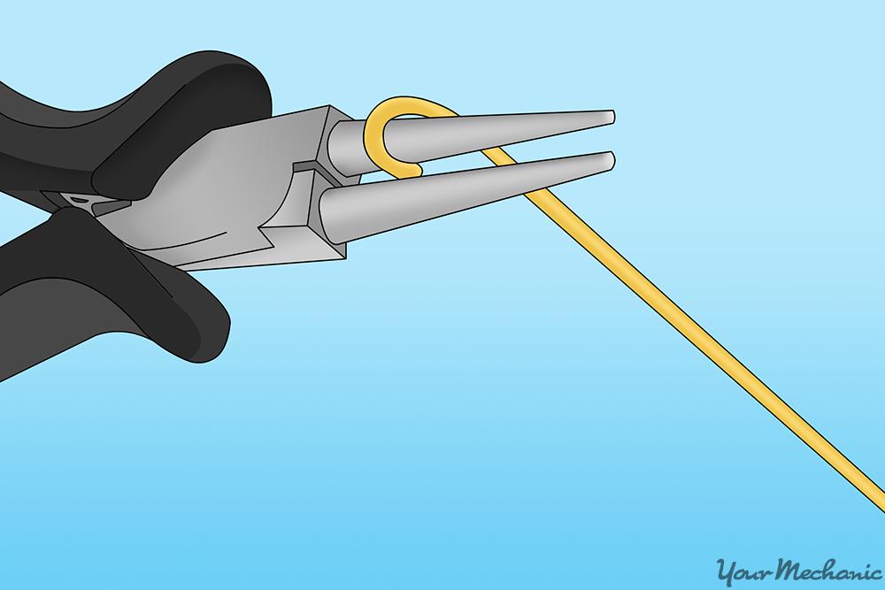 peron using needle nose pliers