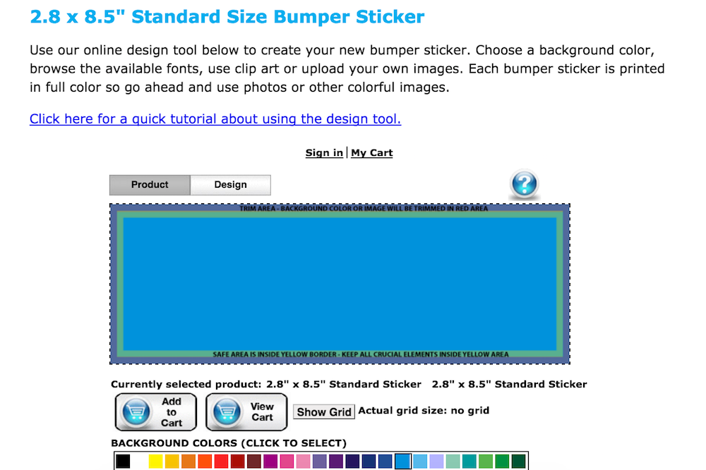 bumper sticker site bg picker