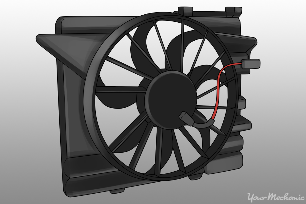 6 How to replace a Cooling Fan Relay image of cooling fan relay mounted to electric cooling fan assembly how to replace a cooling fan relay on most vehicles yourmechanic  at readyjetset.co