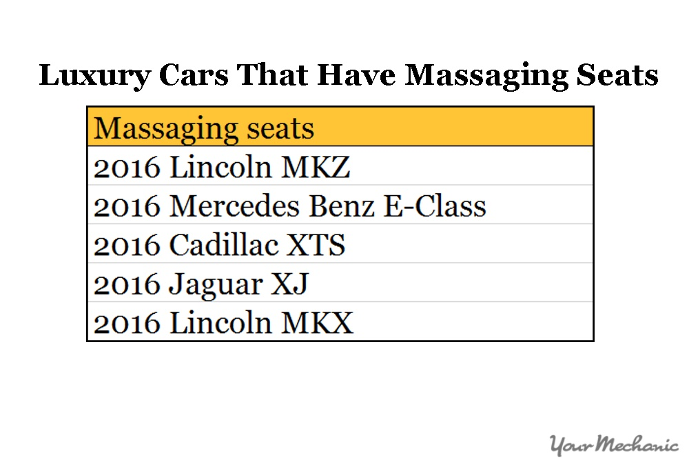 list of cars with massaging seats