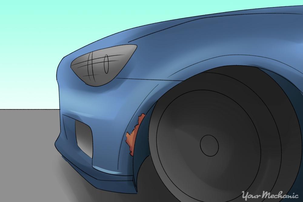 car rust under fender
