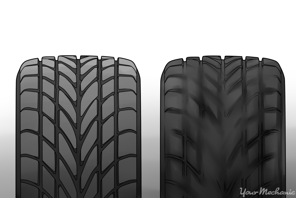 new tire vs old