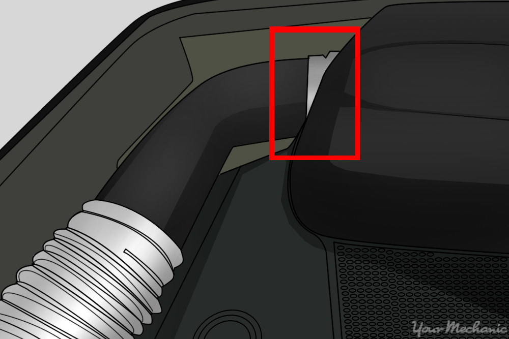 air intake clamp located on the engine side