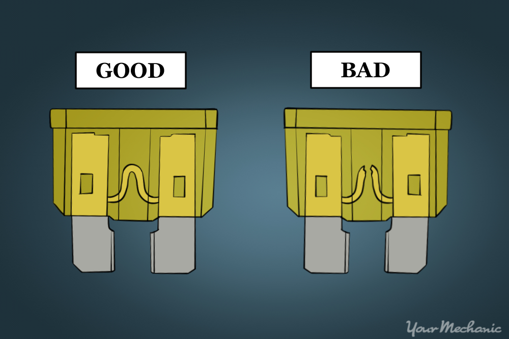 picture of a good fuse and picture of a bad fuse for comparison